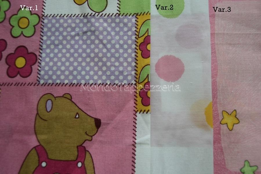 Tende Per Camerette Bambini On Line : Tessuto per camerette in cotone stampato per bambini con tende pois